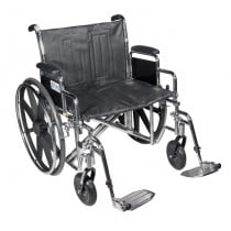 Sentra EXTRA HEAVY DUTY Wheelchair with Various Arm Styles and Foot Rigging Options