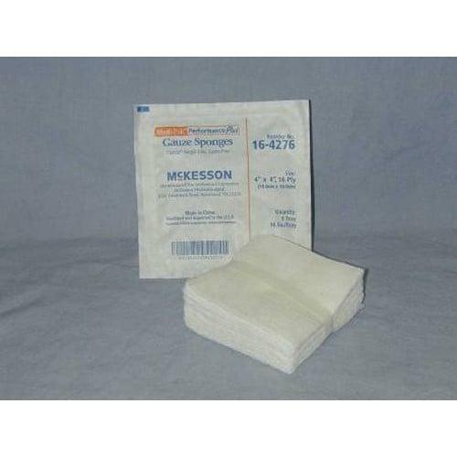 McKesson 16-4276 Gauze Sponges 4x4 Inch 16 Ply - Sterile