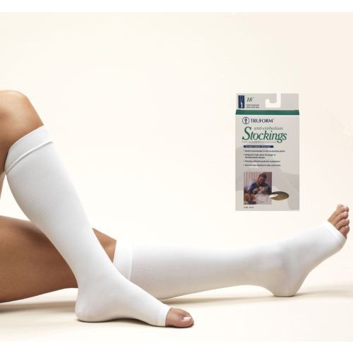 Anti-embolism Knee High Open Toe Stockings