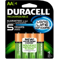 AA Duracell Rechargeable Batteries