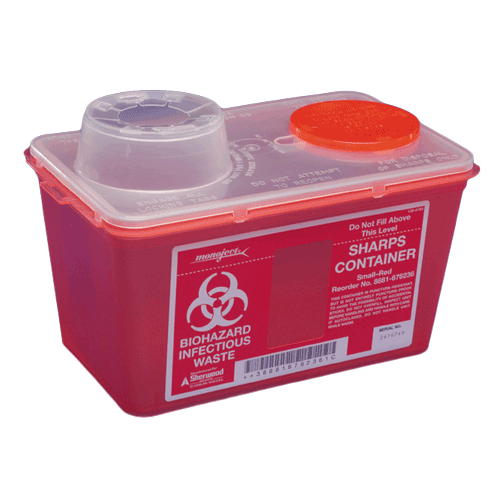 8 Quart Red Sharps-a-Gator Sharps Container with Chimney Top 8881676236