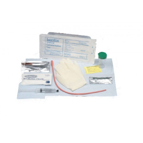 BARDIA Red Rubber Catheter Tray