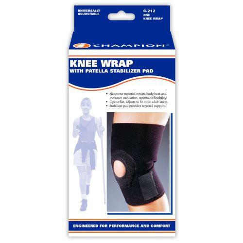 Champion Knee Wrap with Stabilizer Pad