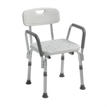 Drive Shower Chair with Back and Removable Padded Arms - 12445KD-1