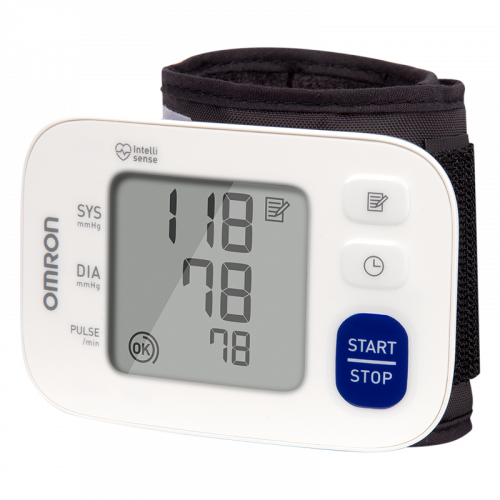 Omron 3 Series Wireless Wrist Blood Pressure Monitor (BP6100 Model) for Hypertension and High BP Checking at Home or in the Clinic