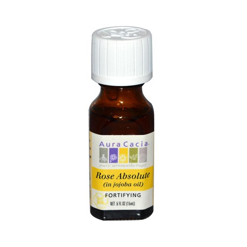 Aura Cacia Aromatherapy Rose Absolute in Jojoba Oil