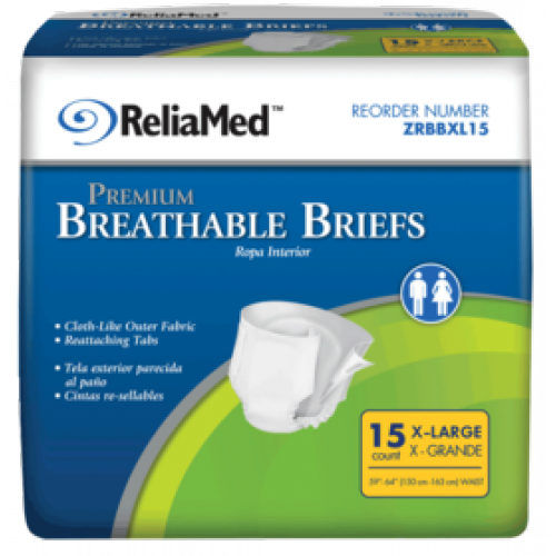ReliaMed Premium Breathable Briefs