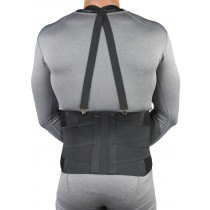 Industrial Back Support Belt with Shoulder Straps, Back View