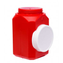1 Quart Red Sharps Container with Locking Top WD-110