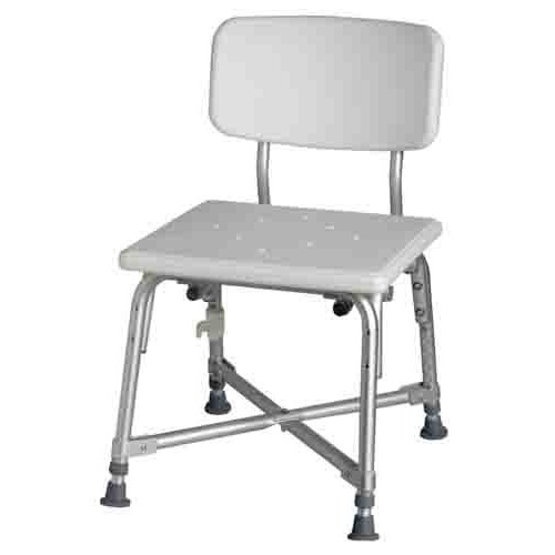 Medline Bariatric Aluminum Bath Bench with Back MDS89745AXW