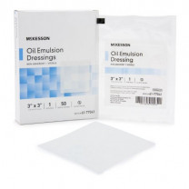 McKesson Oil Emulsion Impregnated Dressing | Non-Adherent Acetate Gauze - 3 & 8 Inch