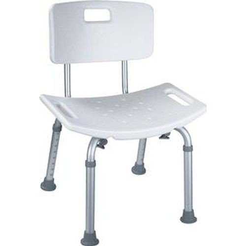 Aluminum Frame Shower Chair with Back by Cardinal Health