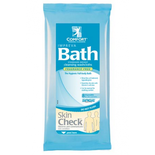 Impreva Bath Cleansing Washcloths Fragrance Free