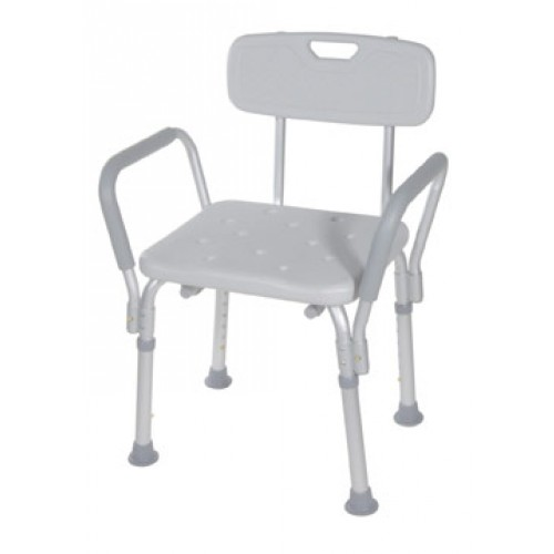 Deluxe Bath Shower Bench with Padded Arms
