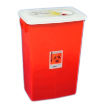 18 Gallon Red SharpSafety Sharps Container with Slide Lid 8938