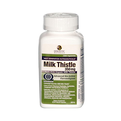 Genceutic Naturals Organic Milk Thistle 350 mg Dietary Supplement