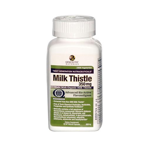 Genceutic Naturals Organic Milk Thistle 350 mg Dietary Supplement