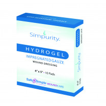Simpurity Hydrogel Impregnated Gause Wound Dressing