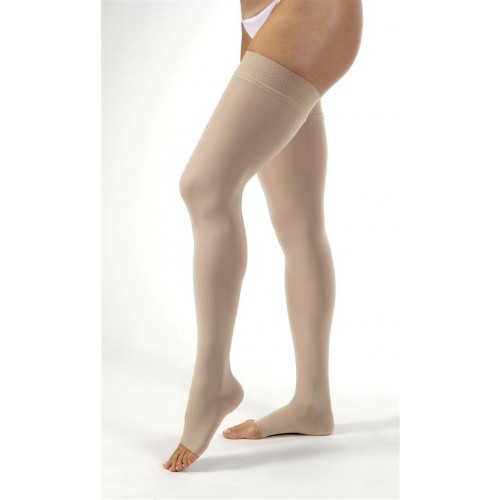 Jobst Opaque Thigh High Extra Firm Compression Stockings OPEN TOE 30-40 mmHg