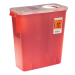 2 Gallon Clear Sharps Container with Counterbalance Lid 8533SA