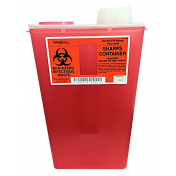 14 Quart Red Sharps-a-Gator Sharps Container with Chimney Top 8881676434