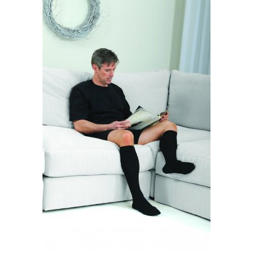 MICROFIBERLINE Men's Compression Socks Knee High CLOSED TOE 15-20 mmHg