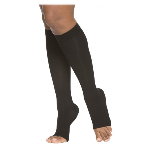 Sigvaris 860 Select Comfort Series Knee High Compression Stocking - 863C OPEN TOE 30-40 mmHg