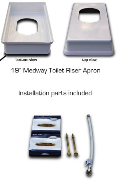 Medway Biggie Xl Easy Toilet Riser Kit 2 Or 4 Inch Lift
