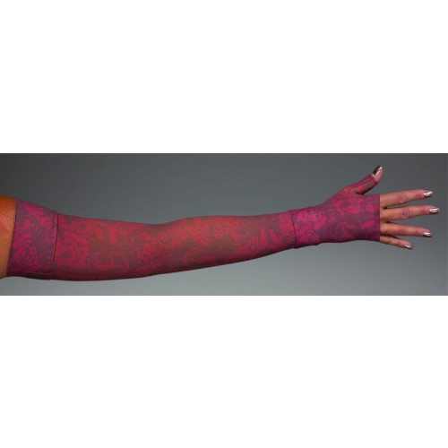 LympheDivas Scarlet Compression Arm Sleeve 30-40 mmHg w/ Diva Diamond Band