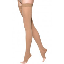 Sigvaris 860 Select Comfort Thigh High Compression Stockings w/Waist Attachment - OPEN TOE 30-40 mmHg