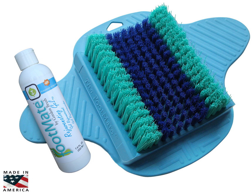 Footmate Shower Foot Scrubber Fm Blue Fm White Fm Wb