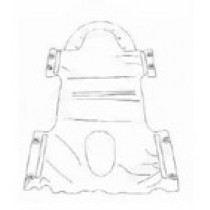 Polyester Commode Lift Sling without Head Support