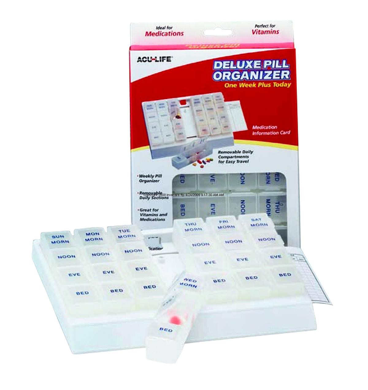 1 Week Deluxe Pill Box Medication Organizer 400407 Pill