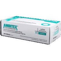 Ambitex Latex Light Powder Exam Gloves - NonSterile