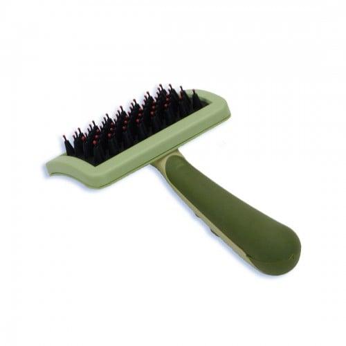 Nylon Coated Tip Dog Brush for Shorthaired Breeds