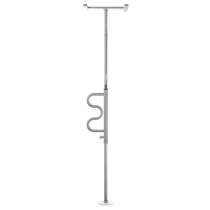 Standers Security Pole & Curve Grab Bar