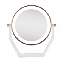 Zadro Two-Sided LED Lighted Vanity Swivel Mirror in Acrylic Base