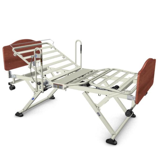 invacare cs3 carroll long term care hospital bed   full electric frame