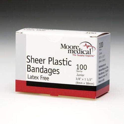 Sheer Plastic Bandages, Latex-Free