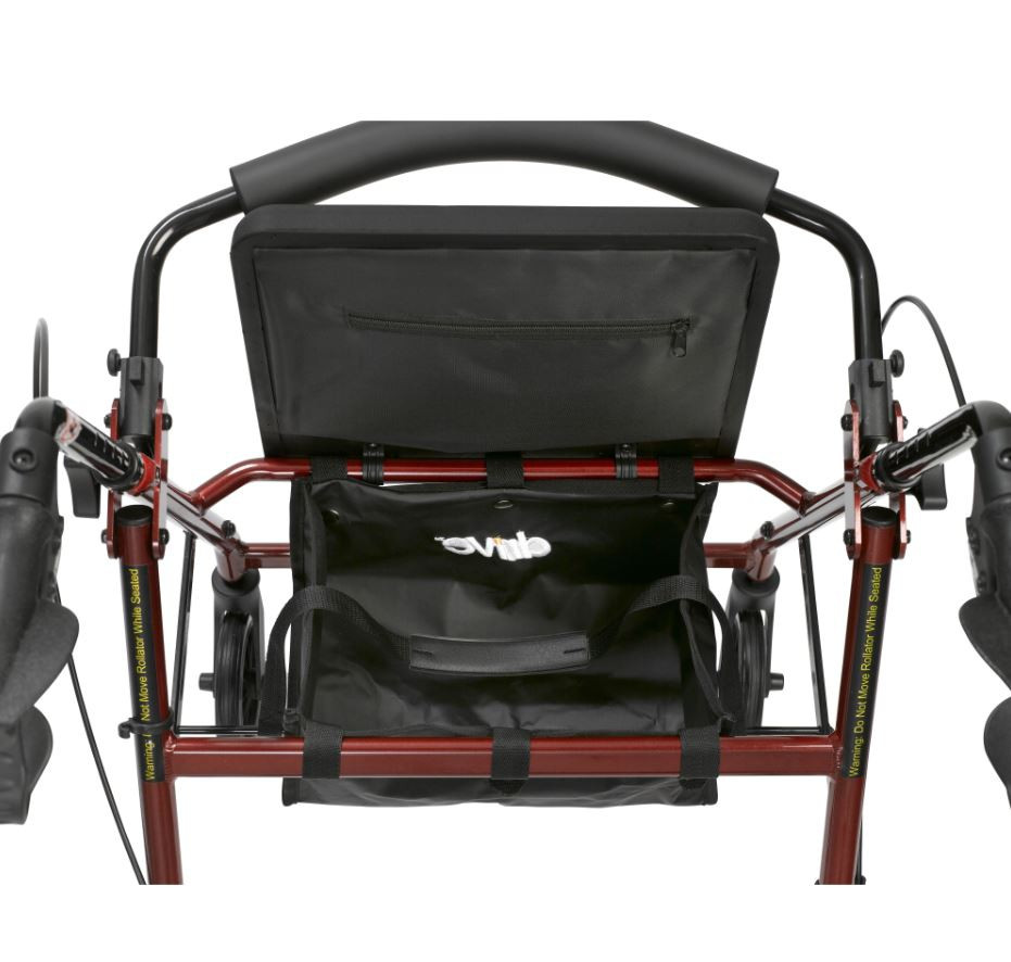 lightweight rollator with fold up and removable back support by drive e8a