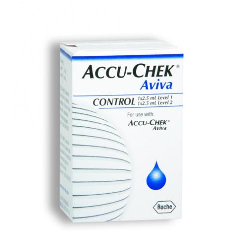 Roche ACCU-CHEK Aviva 2 Level Glucose Control Solution