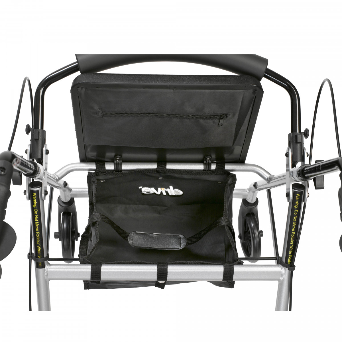 lightweight rollator with fold up and removable back support by drive 7c4