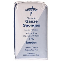 MedLine 4 x 4 Inch Woven Gauze Sponges 8 Ply - NON25408