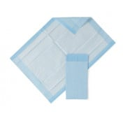 Medline Quilted Basic Disposable Blue Underpad, for incontinence, Furniture Protection or Pet Pads