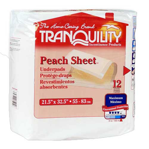 Tranquility PEACH Sheet Disposable Underpad