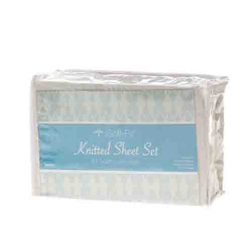 Soft-Fit Knitted Sheet Set