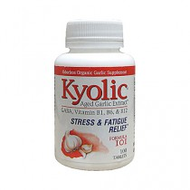 Kyolic Stress and Fatigue Relief Formula Aged Garlic Extract 101 Herbal Supplement