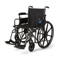 Medline K3 Plus Wheelchairs with Height-Adjustable Swing-Back Desk-Length Arms and Anti-Tipper Wheels