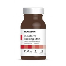 McKesson Iodoform Gauze 5 Inch Packing Strips