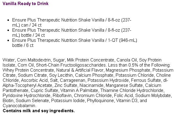 Ensure Plus Therapeutic Nutrition Shake Vanilla